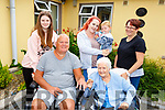 Enjoying the Oaklands Nursing Home, Listowel, Summer party on Sunday afternoon last, were front l-r: Gary Carter and Kitty Roberts. Back l-r: Madison, Sydney, Enzo and Karen Carter.