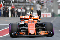 March 25, 2017: Stoffell Vandoorne (BEL) #2 from the McLaren Honda Formula 1 team leaves the pits for the qualifying session at the 2017 Australian Formula One Grand Prix at Albert Park, Melbourne, Australia. Photo Sydney Low