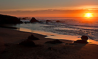 Sunset on the Northern California coastline.