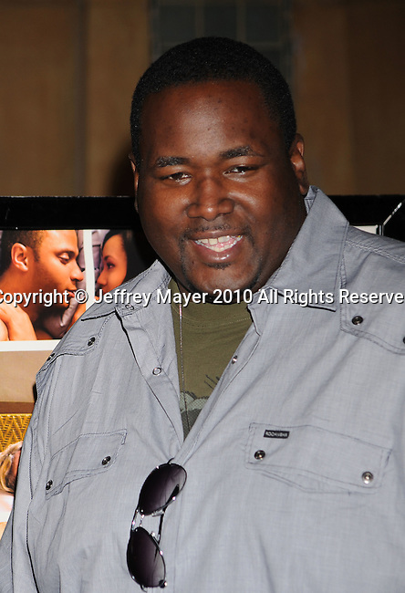 "HOLLYWOOD, CA. - April 19: Quinton Aaron arrives at the Los Angeles Premiere of ""Mother And Child"" at the Egyptian Theatre on April 19, 2010 in Hollywood, California."