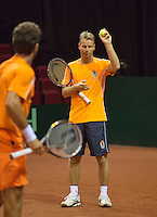 11-sept.-2013,Netherlands, Groningen,  Martini Plaza, Tennis, DavisCup Netherlands-Austria, Draw,   Captain Jan Siemerink<br /> Photo: Henk Koster