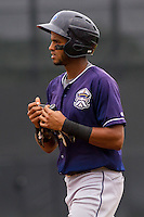 Lake County Captains shortstop Willi Castro (6) during a Midwest League game against the Wisconsin Timber Rattlers on July 24, 2016 at Fox Cities Stadium in Appleton, Wisconsin. Lake County defeated Wisconsin 6-2. (Brad Krause/Four Seam Images)
