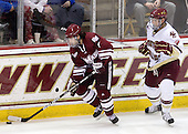 Casey Wellman (UMass - 7), Tommy Cross (BC - 4) - The Boston College Eagles defeated the University of Massachusetts-Amherst Minutemen 2-1 (OT) on Friday, February 26, 2010, at Conte Forum in Chestnut Hill, Massachusetts.