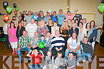 Matthew Healy,Spa Rd,Tralee(seated centre)who celebrated his 40th birthday last Saturday night in the Austin Stacks GAA clubhouse,Connelly Pk,Tralee with his parents Sonny&Elsie and many friends and family.