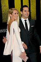 Anna Camp &amp; Skylar Astin at the world premiere of &quot;Pitch Perfect 3&quot;  at the TCL Chinese Theatre, Hollywood, USA 12 Dec. 2017<br /> Picture: Paul Smith/Featureflash/SilverHub 0208 004 5359 sales@silverhubmedia.com
