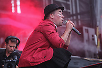 Les Goules performs on the main stage of the Festival d'ete de Quebec (FEQ) in Quebec city Tuesday July 11, 2017.
