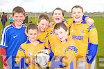 Loughfouder NS, from Left: David O'Donoghue, DJ Roche, Gearoid Kelly, Brudy Gallant, Christie Barrett and Joe Dark pictured at the Kerry national schools 5 a side soccer Blitz at Christy Leahy Park, Cahermoneen, Tralee on Tuesday.