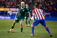 Atletico de Madrid's Koke Resurrección and Real Betis's Dani Ceballos during La Liga match between Atletico de Madrid and Real Betis at Vicente Calderon Stadium in Madrid, Spain. January 14, 2017. (ALTERPHOTOS/BorjaB.Hojas) /NORTEPHOTO.COM