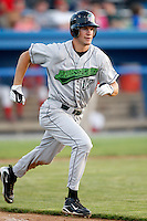 July 24, 2009:  Zach Moore of the Jamestown Jammers during a game at Dwyer Stadium in Batavia, NY.  The Jammers are the NY-Penn League Short-Season Single-A affiliate of the Florida Marlins.  Photo By Mike Janes/Four Seam Images