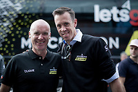 2 Australian (former) Roubaix winners meeting up at the finish in Como: Stuart O'Gready & Matthew Hayman<br /> <br /> Stage 15: Ivrea to Como (232km)<br /> 102nd Giro d'Italia 2019<br /> <br /> ©kramon
