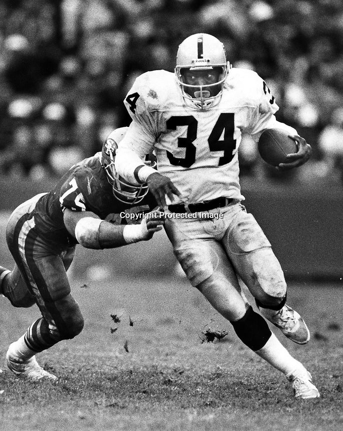 Raider running back Bo Jackson, 1988. Copyright Ron <br />
