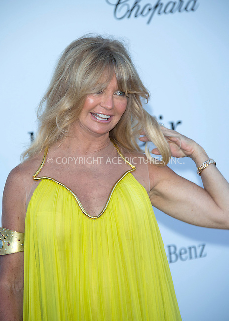 WWW.ACEPIXS.COM....US Sales Only....May 23 2013, New York City....Goldie Hawn at amfAR's Cinema Against AIDS Gala at the Hotel du Cap Eden Roc during the Cannes Film Festival on May 23 2013 in France....By Line: Famous/ACE Pictures......ACE Pictures, Inc...tel: 646 769 0430..Email: info@acepixs.com..www.acepixs.com