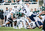 16FTB at Michigan State 1605<br /> <br /> 16FTB at Michigan State<br /> <br /> BYU Football at Michigan State<br /> <br /> BYU-31<br /> MSU-14<br /> <br /> October 8, 2016<br /> <br /> Photo by Jaren Wilkey/BYU<br /> <br /> &copy; BYU PHOTO 2016<br /> All Rights Reserved<br /> photo@byu.edu  (801)422-7322