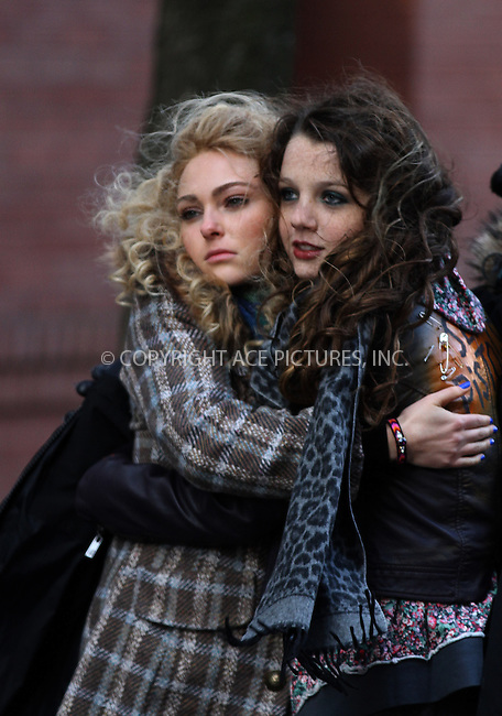 WWW.ACEPIXS.COM....January 22 2013, New York City....Actors AnnaSophia Robb and Stefania Owen on the set of the new TV series 'The Carrie Diaries' on January 22 2013 in New York City....By Line: Zelig Shaul/ACE Pictures......ACE Pictures, Inc...tel: 646 769 0430..Email: info@acepixs.com..www.acepixs.com