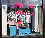 Spring Vibes at Jack Wills clothes fashion shop High Street, Marlborough, Wiltshire, England, UK