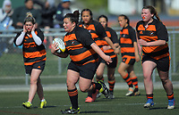 Action from the 2017 Hurricanes Secondary Schools Under-15 Girls' Rugby Tournament match between Wairarapa Barbarians and Sacred Heart College at Wakefield Park in Wellington, New Zealand on Tuesday, 5 September 2017. Photo: Dave Lintott / lintottphoto.co.nz