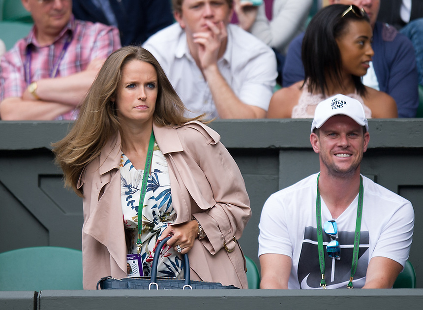 Kim Murray in attendance to watch husband Andy's match against Alexander Bublik <br /> <br /> Photographer Ashley Western/CameraSport<br /> <br /> Wimbledon Lawn Tennis Championships - Day 1 - Monday 3rd July 2017 -  All England Lawn Tennis and Croquet Club - Wimbledon - London - England<br /> <br /> World Copyright &not;&copy; 2017 CameraSport. All rights reserved. 43 Linden Ave. Countesthorpe. Leicester. England. LE8 5PG - Tel: +44 (0) 116 277 4147 - admin@camerasport.com - www.camerasport.com