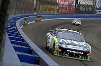 Oct. 11, 2009; Fontana, CA, USA; NASCAR Sprint Cup Series driver Carl Edwards during the Pepsi 500 at Auto Club Speedway. Mandatory Credit: Mark J. Rebilas-