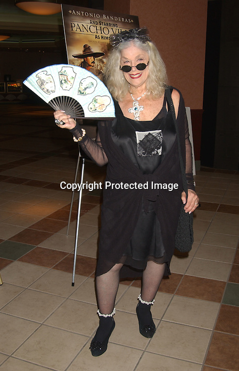 """..Sylvia Miles..at the New York Screening of The HBO film """" And Starring ..Pancho Villa As Himself"""" on August 18,2003 at the Loew's 34th Street Theatre.  Photo by Robin Platzer, Twin Images"""
