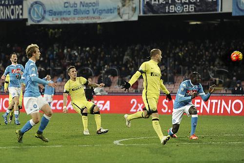 19.01.2016. Naples, Italy. Italian Cup football, Napoli versus Inter Milan.  Stevan Jovetic