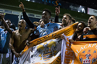 Blackpool players celebrate after the match<br /> <br /> Photographer Craig Mercer/CameraSport<br /> <br /> The EFL Sky Bet League Two Play-Off Semi Final Second Leg - Luton Town v Blackpool - Thursday 18th May 2017 - Kenilworth Road - Luton<br /> <br /> World Copyright &copy; 2017 CameraSport. All rights reserved. 43 Linden Ave. Countesthorpe. Leicester. England. LE8 5PG - Tel: +44 (0) 116 277 4147 - admin@camerasport.com - www.camerasport.com