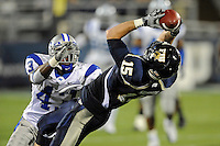 4 December 2010:  FIU tight end Colt Anderson (15) pulls in a reception in the third quarter as the Middle Tennessee State University Blue Raiders defeated the FIU Golden Panthers, 28-27, at FIU Stadium in Miami, Florida.