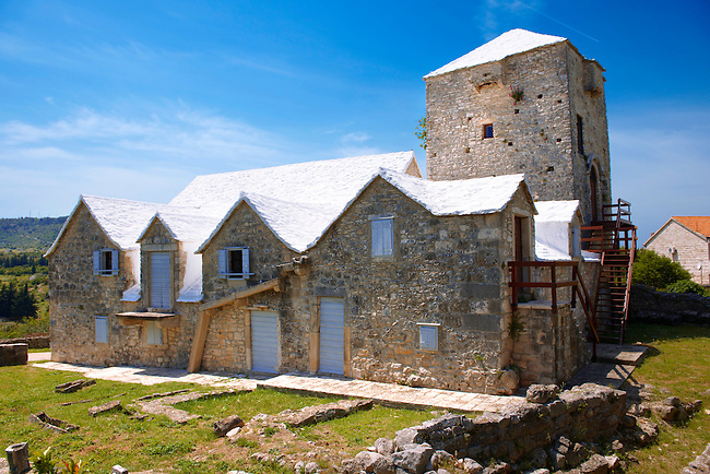 The Tower of Radojkovic, the regional museum in the ancient town of ?krip in Bra? island, Croatia