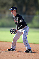 December 28, 2009:  Bret Hines (6) of the Baseball Factory Commodores team during the Pirate City Baseball Camp & Tournament at Pirate City in Bradenton, FL.  Photo By Mike Janes/Four Seam Images