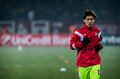 7th December 2017, Rajko Mitic Stadium, Belgrade, Serbia, UEFA Europa League football, Red Star Belgrade versus FC Cologne; Forward Yuya Osako of FC Koeln warms up before the match
