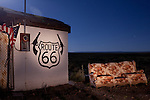 Roadside ruins along historic Route 66 at Two Guns, Arizona