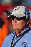 Nov. 7, 2008; Avondale, AZ, USA; NASCAR Sprint Cup Series team owner Rick Hendrick during qualifying for the Checker Auto Parts 500 at Phoenix International Raceway. Mandatory Credit: Mark J. Rebilas-