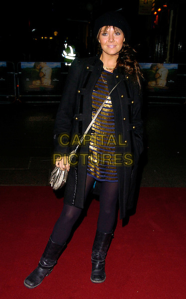 "CHARLIE BROOKS.""Tenacious D: In The Pick Of Destiny"" world premiere, Vue West End, London, UK..November 1st, 2006.Ref: CAN.full length black boots gold blue striped stripes dress coat silver purse hat.www.capitalpictures.com.sales@capitalpictures.com.©Can Nguyen/Capital Pictures"