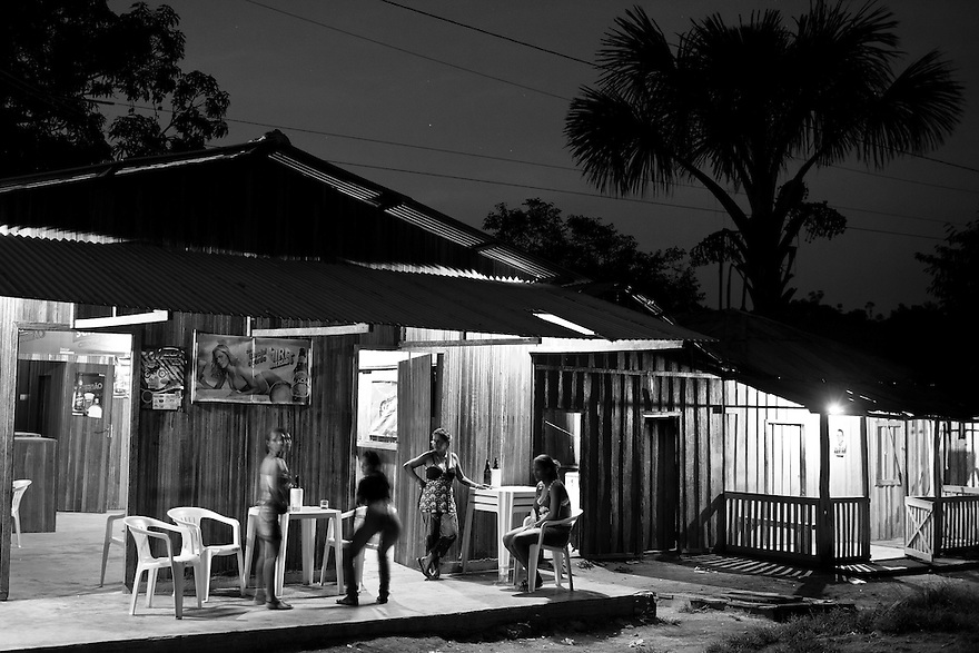 Prostitution at Agua Branca Gold mining village in Para State, Amazon rain forest, Brazil.