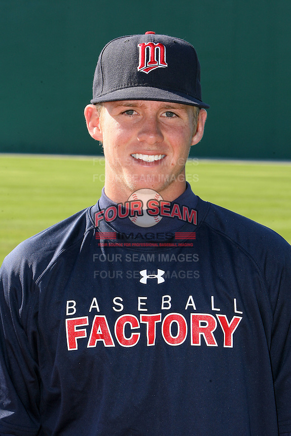 December 29, 2009:  Minnesota Twins prospect Nick Lockwood during the Pirate City Baseball Camp & Tournament at Pirate City in Bradenton, FL.  Lockwood was serving as a coach in the program he participated in as a player.  Photo By Mike Janes/Four Seam Images