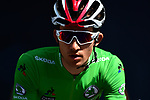 Green Jersey Michal Kwiatkowski (POL) Team Sky at sign on before the start of Stage 8 of the 77th edition of Paris-Nice 2019 running 110km from Nice to Nice, France. 16th March 2019<br /> Picture: ASO/Alex Broadway | Cyclefile<br /> All photos usage must carry mandatory copyright credit (&copy; Cyclefile | ASO/Alex Broadway)