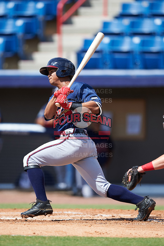 Atlanta Braves Ray-Patrick Didder (9) during an Instructional League game against the Washington Nationals on September 30, 2016 at Space Coast Stadium in Melbourne, Florida.  (Mike Janes/Four Seam Images)