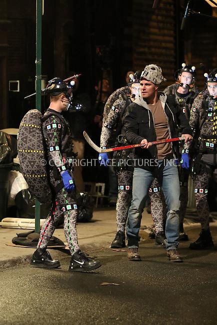 WWW.ACEPIXS.COM<br /> <br /> April 30 2015, New York City<br /> <br /> Stephen Amell on the set of the new Ninja Turtles movie on April 30 2015 in New York City<br /> <br /> Please byline: Zelig Shaul/ACE Pictures<br /> <br /> ACE Pictures, Inc.<br /> www.acepixs.com<br /> Tel: 1 646 769 0430<br /> Email: info@acepixs.com