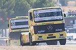 Spanish driver Enrique Alberto Mila Monteserin belonging Spanish team Enrique Alberto Mila Monteserin during the super pole SP1 of the XXX Spain GP Camion of the FIA European Truck Racing Championship 2016 in Madrid. October 01, 2016. (ALTERPHOTOS/Rodrigo Jimenez)