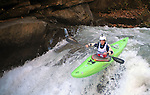 November 5, 2016 - Hendersonville, North Carolina, Hunt Jennings drops into the Scream Machine Rapids during the 21st annual Green Race.The Green River Narrows provides one of the most intense and extreme whitewater venues in the world and is home to many of the USA's most talented paddlers.  Green River Narrows, Hendersonville, North Carolina.