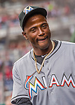 7 April 2016: Miami Marlins shortstop Adeiny Hechavarria stands ready in the dugout prior to the Washington Nationals Home Opening Game at Nationals Park in Washington, DC. The Marlins defeated the Nationals 6-4 in their first meeting of the 2016 MLB season. Mandatory Credit: Ed Wolfstein Photo *** RAW (NEF) Image File Available ***