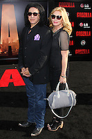 "HOLLYWOOD, LOS ANGELES, CA, USA - MAY 08: Gene Simmons, Shannon Tweed Simmons at the Los Angeles Premiere Of Warner Bros. Pictures And Legendary Pictures' ""Godzilla"" held at Dolby Theatre on May 8, 2014 in Hollywood, Los Angeles, California, United States. (Photo by Xavier Collin/Celebrity Monitor)"