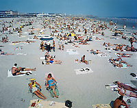 Wildwood NJ very large & crowded Beach. 1960's