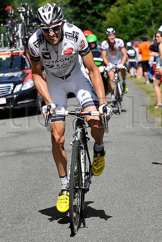 22.07.2014. Carcassonne to Bagnères-de-Luchon, France. Tour de France cycling championship, stage 16.   VACHON Florian (FRA - BRETAGNE SECHE ENVIRONNEMENT) ascends the Port de Bales