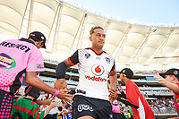 James Gavet of the NZ Warriors, Rabbitohs v Vodafone Warriors, NRL rugby league premiership. Optus Stadium, Perth, Western Australia. 10 March 2018. Copyright Image: Daniel Carson / www.photosport.nz