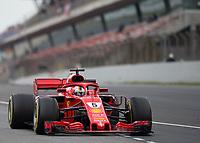 SEBASTIAN VETTEL (GER) of Scuderia Ferrari during Day 2 of the 2018 Formula 1 Testing at the Circuit de Catalunya, Barcelona. on 27 February 2018. Photo by Vince  Mignott.