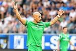 05.08.2019, Carl-Benz-Stadion, Mannheim, GER, 3. Liga, SV Waldhof Mannheim vs. TSV 1860 Muenchen, <br /> <br /> DFL REGULATIONS PROHIBIT ANY USE OF PHOTOGRAPHS AS IMAGE SEQUENCES AND/OR QUASI-VIDEO.<br /> <br /> im Bild: Timo Gebhart (TSV 1860 Muenchen #10)<br /> <br /> Foto © nordphoto / Fabisch