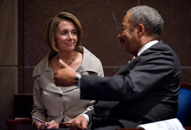 Speaker Nancy Pelosi, D-Calif., talks with Rep. Chaka Fattah, D-Pa., during the Congressional Black Caucus Foundation, Inc., annual legislative conference held in the CVC, September 23, 2009.