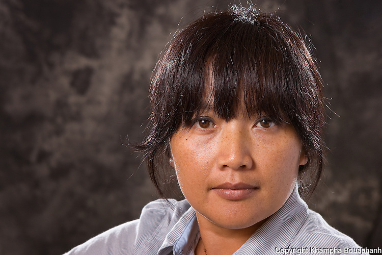 Visual artist Malichansouk Kouanchao, photographed during the Lao Artists Festival in Elgin, IL on August 20, 2010.  (photo by Khampha Bouaphanh)