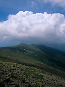 Appalachian Trail - Storm clouds over Mount Monroe from Gulfside Trail during the summer months in the White Mountains, New Hampshire, USA.