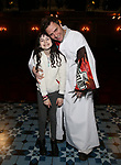 Savvy Crawford and Manoel Felciano during the Actors' Equity Broadway Opening Night Gypsy Robe Ceremony honoring Manoel Felciano for 'Amelie' at the Walter Kerr Theatre on April 3, 2017 in New York City